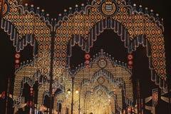 Härlig belysning av ljusen Arkivbilder
