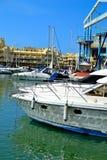 härlig Benalmadena marina, Costa del Sol, Spanien royaltyfria foton