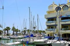 härlig Benalmadena marina, Costa del Sol, Spanien royaltyfri bild