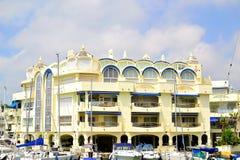 härlig Benalmadena marina, Costa del Sol, Spanien arkivbild