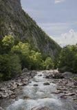 Härlig bergflod Arkivfoton