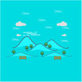 Härlig berglandskapöversikt Fotografering för Bildbyråer