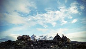 Härlig bergpanorama i Skottland Arkivbild