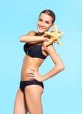 härlig bikinikvinna Royaltyfri Fotografi