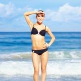 härlig bikinikvinna Arkivfoto