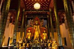 Härlig bild av tre plattform buddha Fotografering för Bildbyråer