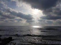 Härlig bild med havet och molnen Royaltyfri Bild