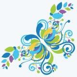 härlig blå blom- soft för abstrakt bakgrund Royaltyfri Fotografi
