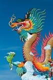 härlig blå drakesky Arkivbild