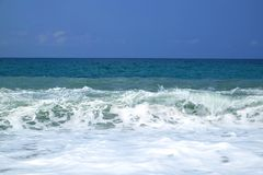 härlig blå havwave Fotografering för Bildbyråer