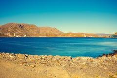härlig blå seascape för illustration 3d Mageroya ö, Norge Fotografering för Bildbyråer