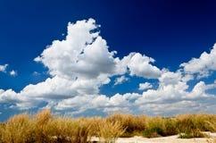 härlig blå sky arkivfoton