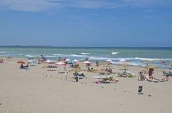 Härlig Black Sea strand, Shabla, Bulgarien Royaltyfria Foton