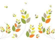 härlig blom- grön soft för bakgrund Arkivbild