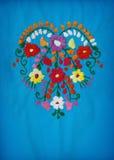 härlig blom- hjärtaillustrationvektor Arkivbild
