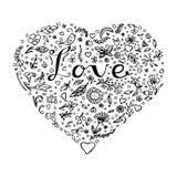 härlig blom- hjärtaillustrationvektor Royaltyfri Foto