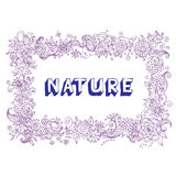 härlig blom- ram Vektor Illustrationer
