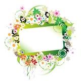 härlig blom- ram Arkivfoton