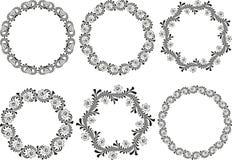 härlig blom- ramillustrationvektor Royaltyfri Bild