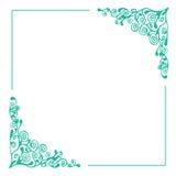 härlig blom- ramillustrationvektor Arkivfoto
