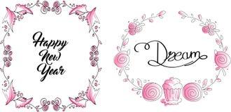 härlig blom- ramillustrationvektor Royaltyfri Foto