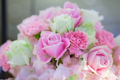 Härlig blommabakgrund för att gifta sig plats Royaltyfri Fotografi