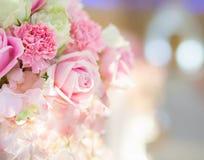 Härlig blommabakgrund för att gifta sig plats Royaltyfria Foton