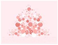 härlig blommafjäder royaltyfri illustrationer