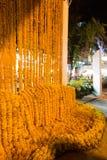 Härlig blommaordning i `-blomman för fader`-aktivitet för att att vara medvetent av hans majestätkonung Bhumibol Adulyadej på Pak Royaltyfri Fotografi