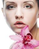 härlig blommapinkkvinna Royaltyfri Bild