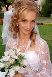 härlig blond brud Royaltyfri Foto