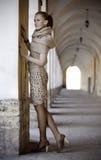 Härlig blond dam Royaltyfria Bilder