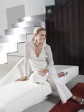 Härlig blond kvinnabbb Royaltyfri Fotografi