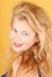 härlig blond lady Royaltyfri Fotografi