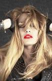 härlig blond modell Royaltyfri Fotografi
