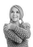 härlig blond pullover Royaltyfri Foto