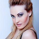 härlig blond sexig kvinna Fotografering för Bildbyråer
