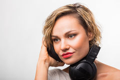 Härlig blondin fotografering för bildbyråer