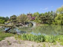 Härlig botanisk trädgård av Montreal Royaltyfri Foto