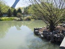 Härlig botanisk trädgård av Montreal Arkivfoton