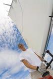härlig brädeflickayacht Royaltyfri Bild