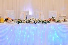Härlig brölloprestaurang för förbindelse Fotografering för Bildbyråer