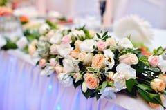 Härlig brölloprestaurang för förbindelse Royaltyfria Bilder