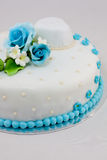 Härlig bröllopstårta Arkivbild