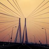 härlig bro Arkivbild