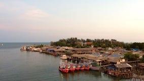 Härlig bro för sikt i Rayong, Thailand Arkivbilder