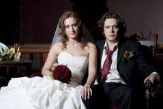 härlig brudbrudgum Fotografering för Bildbyråer