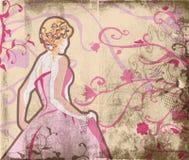 härlig brudgrungesida royaltyfri illustrationer