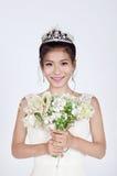 härlig brudkines royaltyfri bild
