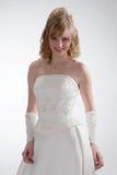 härlig brudklänningwhite Royaltyfri Bild